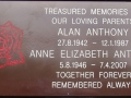 Anne & Alan - Remembrance Plaque