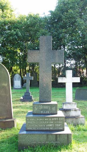 Grave: James & Ellen Gent