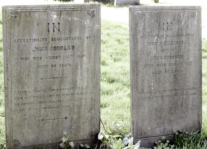 Grave: John & Mercy E Goddard