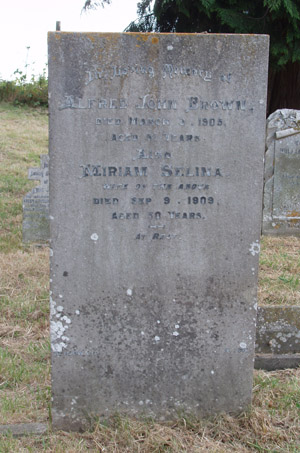 Grave: Miriam Selina Brown (Buswell)