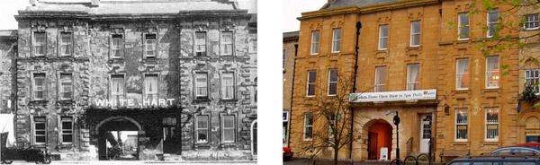 White Hart Inn, Chipping Norton - now & then 600