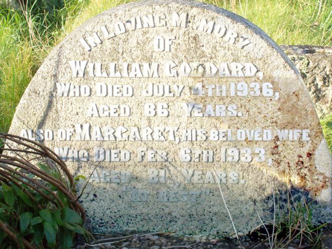 Grave: Wm Goddard